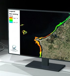 site selection for WaveRoller - finding the best wave energy resources
