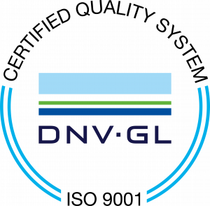 ISO 9001 certified quality system by DNV GL